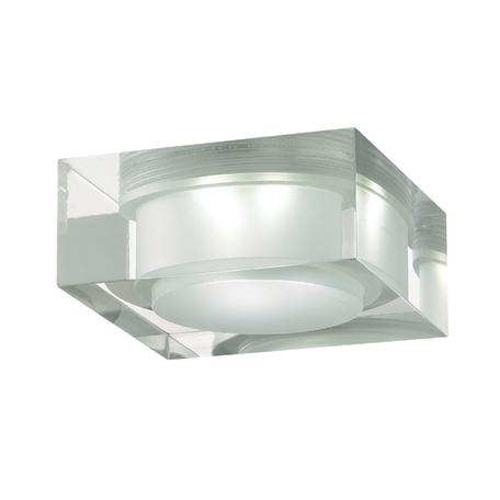 Встраиваемый светодиодный светильник Novotech Ease 357049, LED 6W 6500K 540lm, хром, прозрачный, пластик