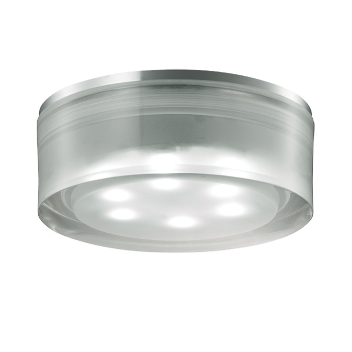 Встраиваемый светодиодный светильник Novotech Ease 357051, LED 3W 6500K 270lm, хром, прозрачный, пластик - фото 1