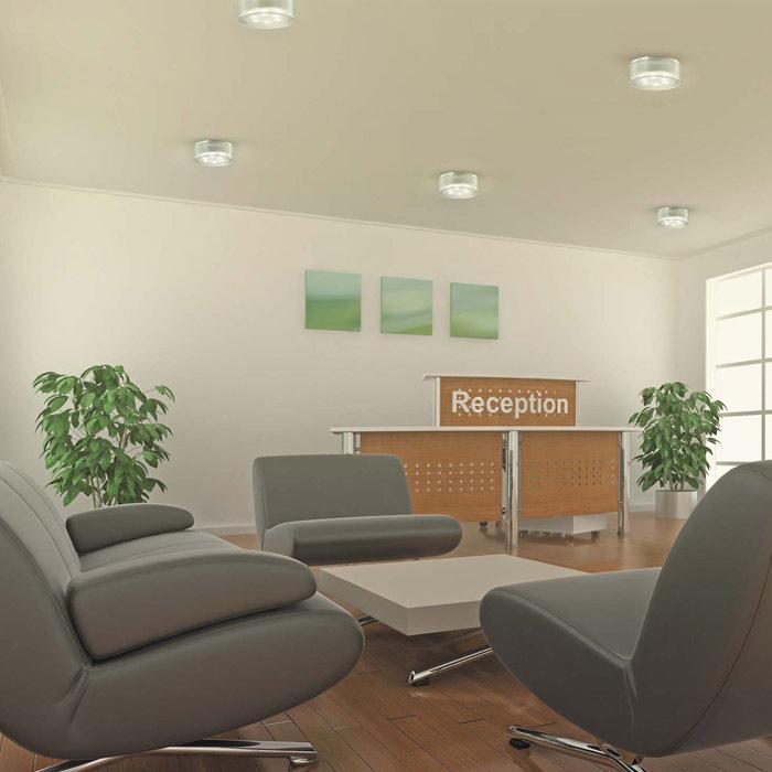 Встраиваемый светодиодный светильник Novotech Ease 357051, LED 3W 6500K 270lm, хром, прозрачный, пластик - фото 2