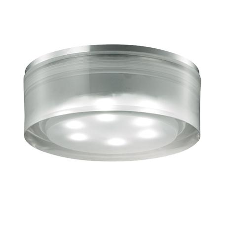 Встраиваемый светодиодный светильник Novotech Ease 357052, 6500K (холодный), хром, прозрачный, металл, пластик