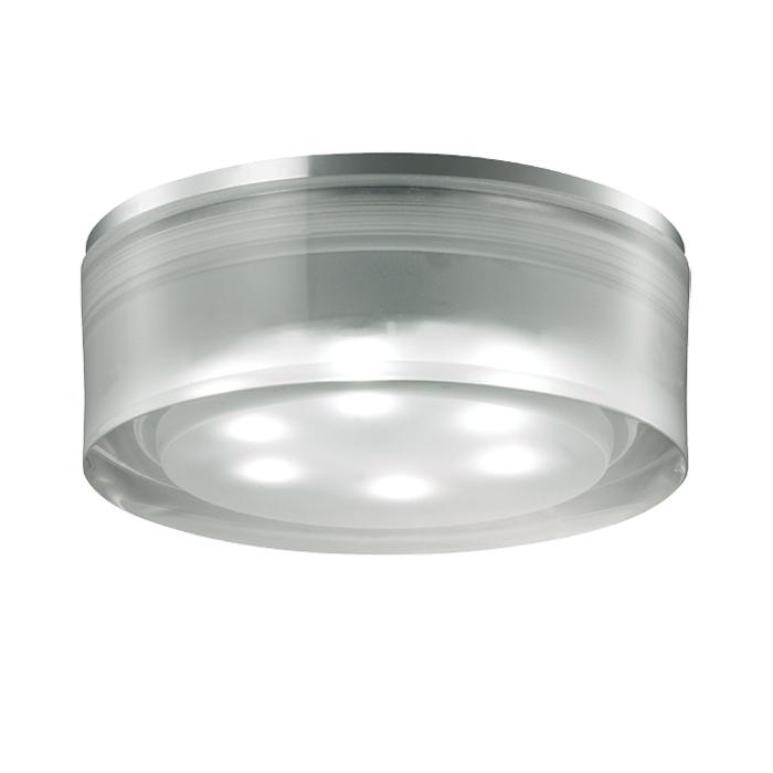 Встраиваемый светодиодный светильник Novotech Ease 357052, LED 6W 6500K 540lm, хром, прозрачный, пластик - фото 1