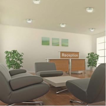 Встраиваемый светодиодный светильник Novotech Ease 357052, LED 6W 6500K 540lm, хром, прозрачный, пластик - миниатюра 2
