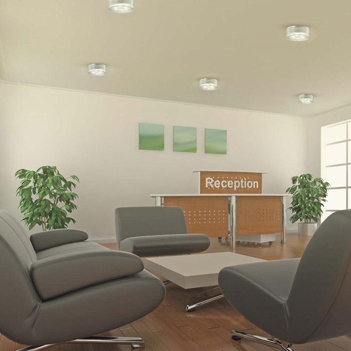 Встраиваемый светодиодный светильник Novotech Ease 357052, LED 6W 6500K 540lm, хром, прозрачный, пластик - фото 2