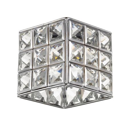 Встраиваемый светодиодный светильник Novotech Elf-LED 357157, LED 3W 4000K 180lm, хром, прозрачный, металл, металл со стеклом/хрусталем