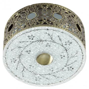 Встраиваемый светодиодный светильник Novotech Pastel 357303, LED 4W, 3500K (дневной), медь, матовый, прозрачный, металл, стекло