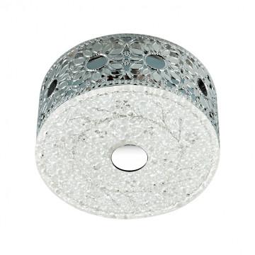 Встраиваемый светодиодный светильник Novotech Pastel 357304, LED 4W, 3500K (дневной), хром, матовый, прозрачный, металл, стекло
