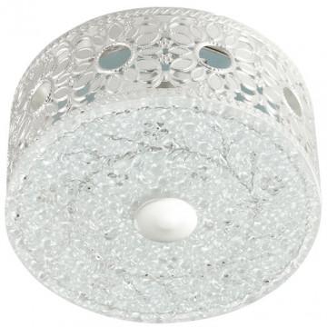 Встраиваемый светодиодный светильник Novotech Pastel 357306, LED 4W, 3500K (дневной), белый, серебро, матовый, прозрачный, металл, стекло