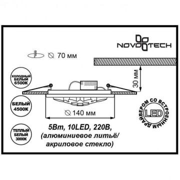 Схема с размерами Novotech 357315