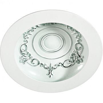 Встраиваемый светодиодный светильник Novotech Gesso 357359, LED 9W, 3000K (теплый), белый, металл со стеклом/пластиком