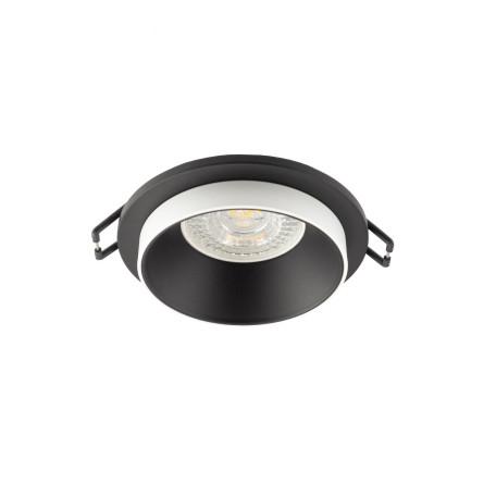 Встраиваемый светильник Denkirs DK2400-BK, 1xGU10x50W, черный с белым, металл