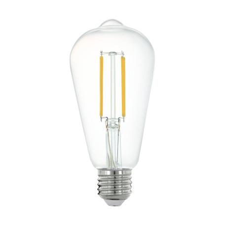 Филаментная светодиодная лампа Eglo 11862 прямосторонняя груша E27 6W, 2700K (теплый) 220V