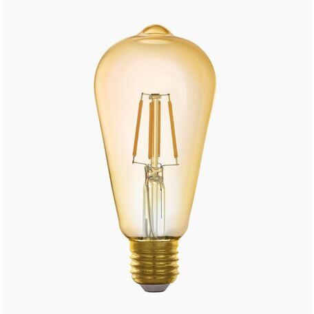 Филаментная светодиодная лампа Eglo 11865 прямосторонняя груша E27 5,5W, 2200K (теплый)