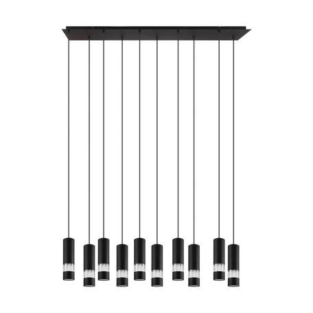 Подвесной светильник Eglo Bernabeta 39707, 10xGU10x5W, черный, металл, металл с пластиком