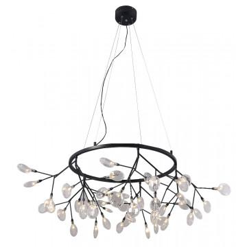 Подвесная люстра Crystal Lux EVITA SP45 D BLACK/TRANSPARENT 1690/245D, 45xG4x1W, черный, прозрачный, металл, стекло