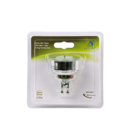 Компактная люминесцентная лампа Lucide 50445/08/31 MR16 GU10 8W, 2700K (теплый) 220V, гарантия 30 дней