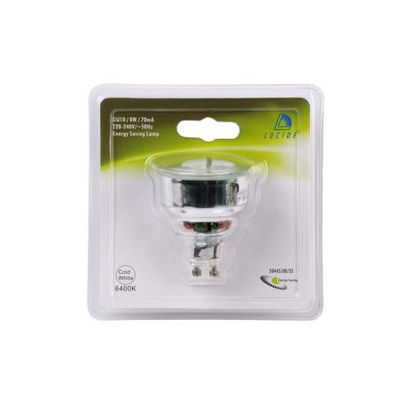 Компактная люминесцентная лампа Lucide 50445/08/33 MR16 GU10 8W, 6500K (холодный) 220V, гарантия 30 дней