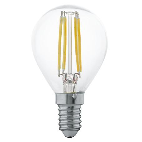 Филаментная светодиодная лампа Eglo 11499 шар малый E14 4W, 2700K (теплый) CRI>80, гарантия 5 лет