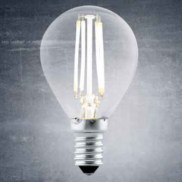 Филаментная светодиодная лампа Eglo 11499 шар E14 4W, 2700K (теплый), гарантия 5 лет