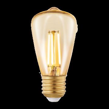 Филаментная светодиодная лампа Eglo 11553 прямосторонняя груша E27 3,5W, 2200K (теплый) CRI>80, гарантия 5 лет