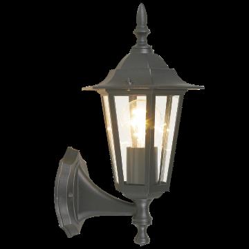 Настенный фонарь Eglo Laterna 4 22468, IP44, 1xE27x60W, черный, прозрачный, металл, металл со стеклом/пластиком