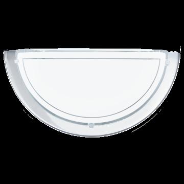 Настенный светильник Eglo Planet 1 83156, 1xE27x60W, хром, матовый, металл, стекло