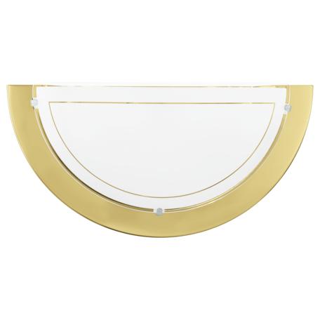 Настенный светильник Eglo Planet 1 83158, 1xE27x60W, золото, белый, металл, стекло
