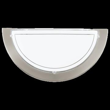 Настенный светильник Eglo Planet 1 83163, 1xE27x60W, никель, белый, металл, стекло