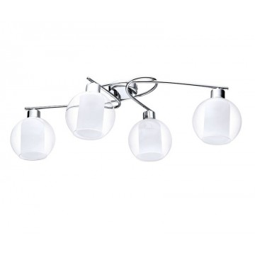 Потолочная люстра Eglo Bolsano 32363, 4xE27x60W, хром, белый, прозрачный, металл, стекло - миниатюра 1