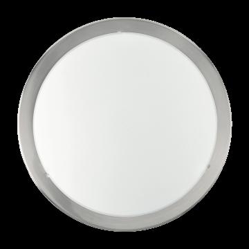 Потолочный светильник Eglo Planet 82941, 2xE27x60W, никель, белый, металл, стекло