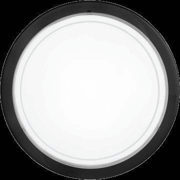 Потолочный светильник Eglo Planet 1 83159, 1xE27x60W, черный, белый, металл, стекло