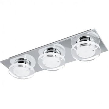Потолочный светодиодный светильник Eglo Cisterno 94485, LED 13,5W 3000K 1440lm, хром, белый, прозрачный, металл, пластик