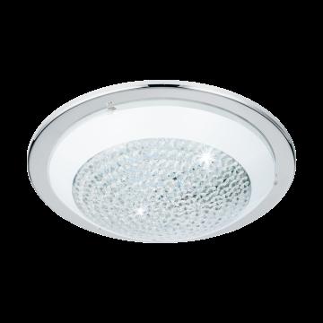 Потолочный светодиодный светильник Eglo Acolla 95641, LED 16W, хром, матовый, прозрачный, металл, стекло