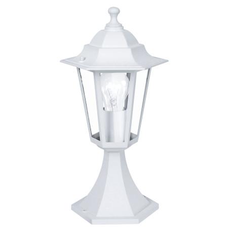 Садово-парковый светильник Eglo Laterna 5 22466, IP44, 1xE27x60W, белый, прозрачный, металл, металл со стеклом