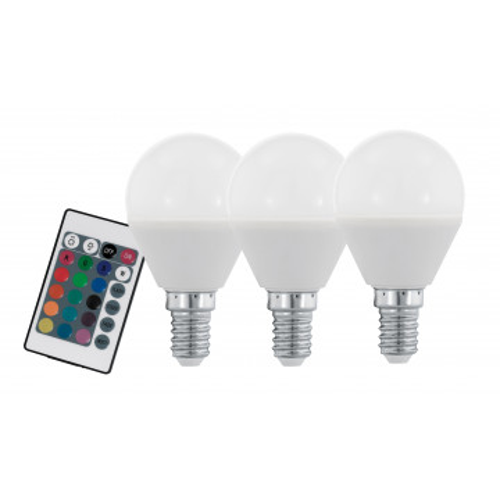 Светодиодная лампа Eglo 10683 шар малый E14 4W, 3000K/RGB (теплый) CRI>80, диммируемая, гарантия 5 лет