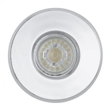 Встраиваемый светильник Eglo Igoa 94978, IP44, 1xGU10x3,3W, хром, металл