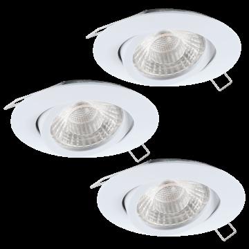 Встраиваемый светильник Eglo Tedo 1 95357, 1xGU10x5W, белый, металл