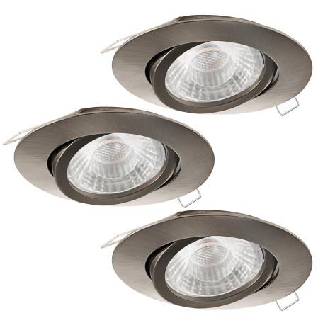 Встраиваемый светильник Eglo Tedo 1 95359, 1xGU10x5W, никель, металл
