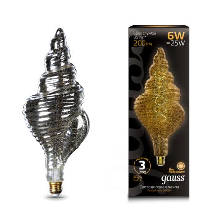 Светодиодная лампа Gauss Filament Oversize 166802008 E27 6W, 2400K (теплый) CRI90 185-265V, гарантия 3 года