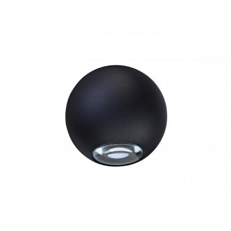 Настенный светодиодный светильник Donolux Lumin DL18442/12 Black R Dim, IP54, LED 6W 3000K 288lm