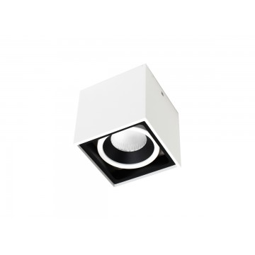 Потолочный светодиодный светильник Donolux Invers DL18415/11WW-SQ White/Black Dim, LED 15W, 3000K (теплый)