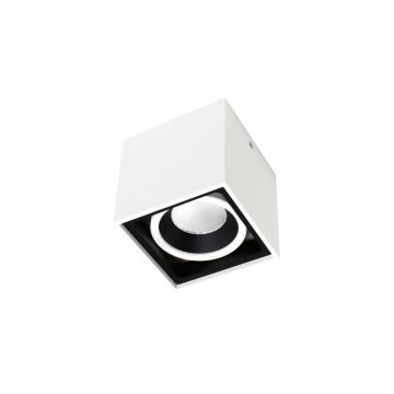 Потолочный светодиодный светильник Donolux Invers DL18415/11WW-SQ White/Black Dim, LED 15W 3000K 1350lm