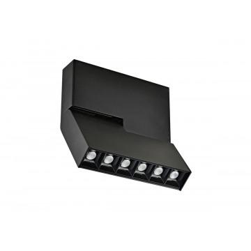 Светодиодный светильник для магнитной системы Donolux Eye Turn DL18786/06M Black, LED 6W 3000K 420lm