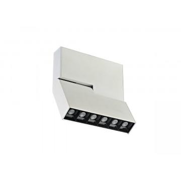 Светодиодный светильник для магнитной системы Donolux Eye Turn DL18786/06M White, LED 6W 3000K 420lm, белый, черно-белый