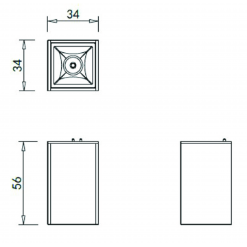 Схема с размерами Donolux DL18781/01M White
