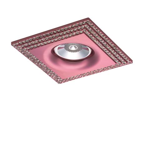 Встраиваемый светильник Lightstar Miriade 011988R, 1xGU5.3x50W, прозрачный, розовый, металл со стеклом