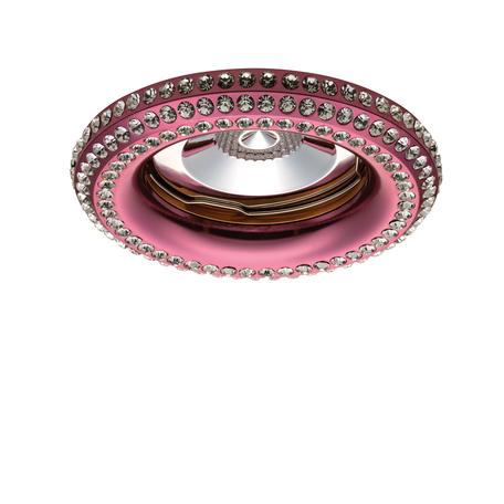 Встраиваемый светильник Lightstar Miriade 011998R, 1xGU5.3x50W, прозрачный, розовый, металл со стеклом