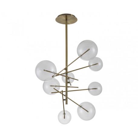 Потолочная люстра Kink Light Джета 07517-8,20, 8xG4x5W, бронза, прозрачный, металл, стекло