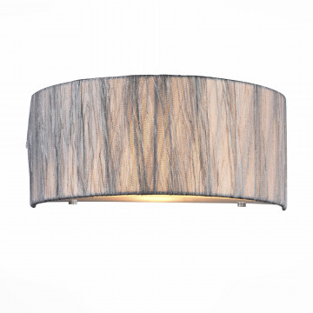 Бра ST Luce Rondella SL357.101.01, 1xE14x40W, хром, серебро, металл, текстиль