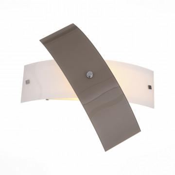 Настенный светильник ST Luce Ovvio SL338.501.01, 1xE27x60W, хром, коричневый, металл, стекло