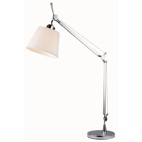Настольная лампа ST Luce Reduzion SL464.104.01, 1xE27x60W, хром, белый, металл, текстиль